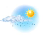 Parțial noros și ploaie ușoară