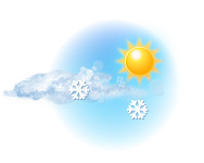 Parțial înnorat și ninsoare ușoară