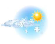 Parțial noros și averse de ninsoare