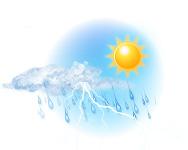 Parțial înnorat și ploaie cu descărcări electrice