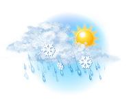 Înnourat și ușoară lapoviță și ninsoare