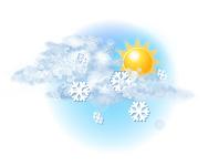 În mare parte înnorat și ninsoare moderată