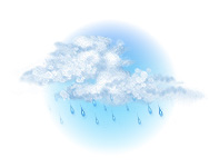 Înnorat și ploaie ușoară