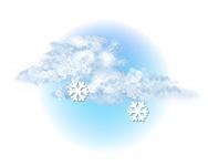 Înnorat și ninsoare ușoară