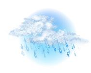 Înnorat și ploaie moderată
