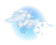 Înnorat și ninsoare