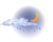 Parțial înnorat și ploaie ușoară