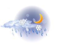 Parțial noros și ușoară lapoviță și ninsoare