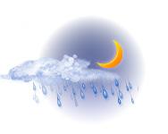 Parțial înnorat și ploaie moderată