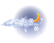 Parțial înnorat și ninsoare moderată