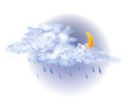 În mare parte înnorat și ploaie ușoară