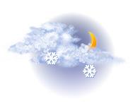 Înnourat și ninsoare ușoară