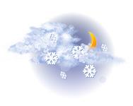 Înnourat și averse de ninsoare