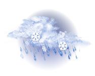 Înnorat și lapoviță și ninsoare abundentă
